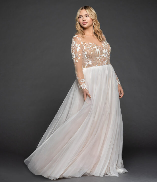57ff9c578e5 ... hayley-paige-bridal-fall-2015-style-6553-remmington  Remmington Back  Hayley Paige plus size ...